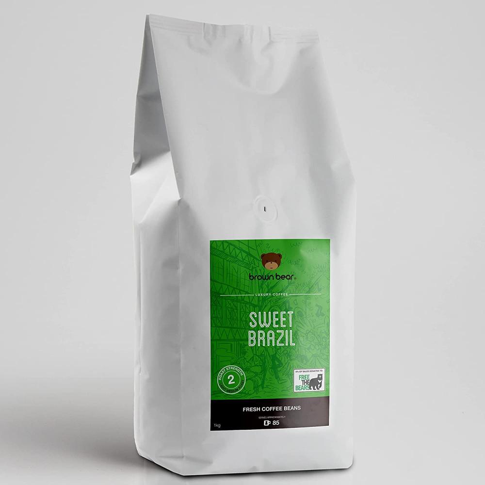 Brown Bear Sweet Brazil Coffee 1kg