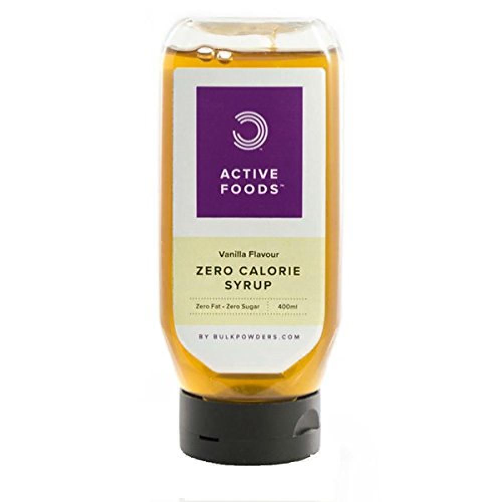Bulk Powders Active Food Zero Calorie Syrup Vanilla Flavour 400 ml