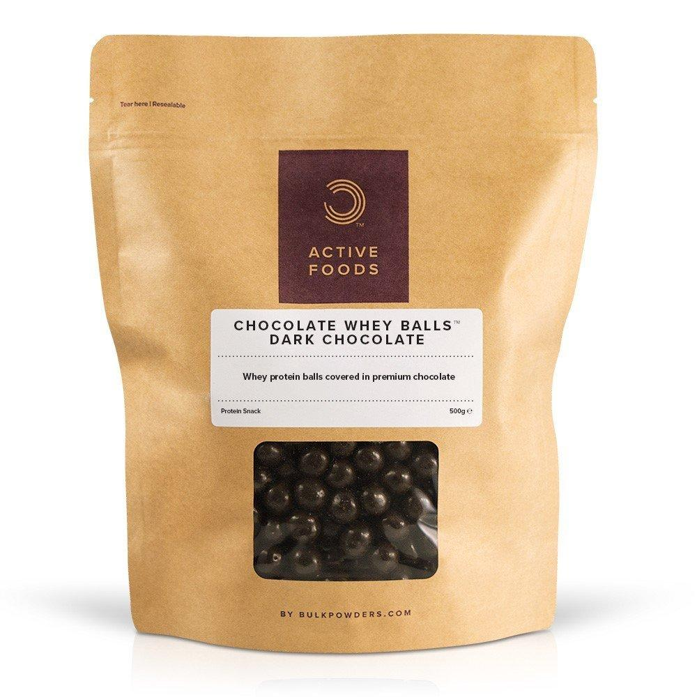 Bulk Powders Active Foods Dark Chocolate Whey Balls 500g