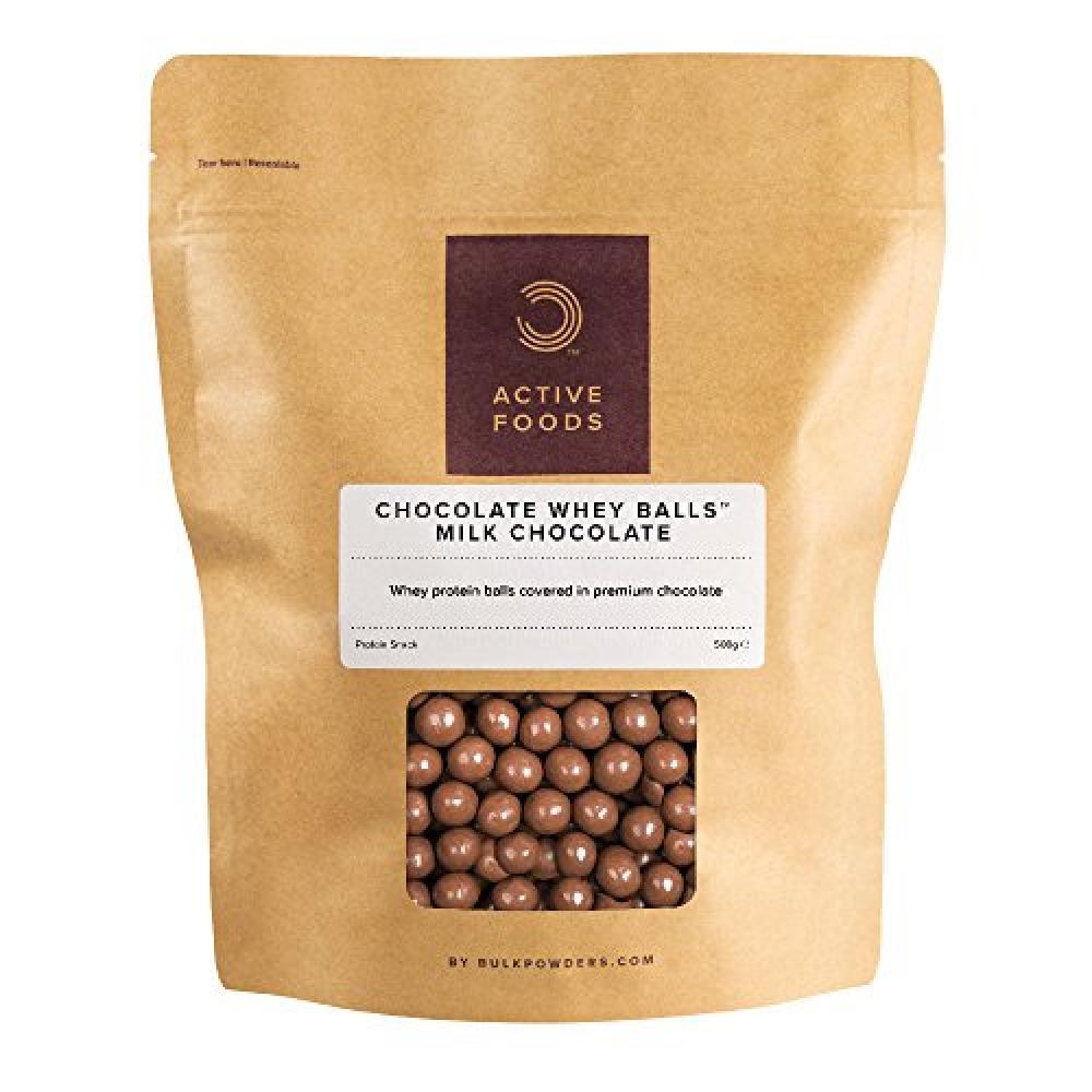 Bulk Powders Chocolate Whey Balls Milk Chocolate 500g
