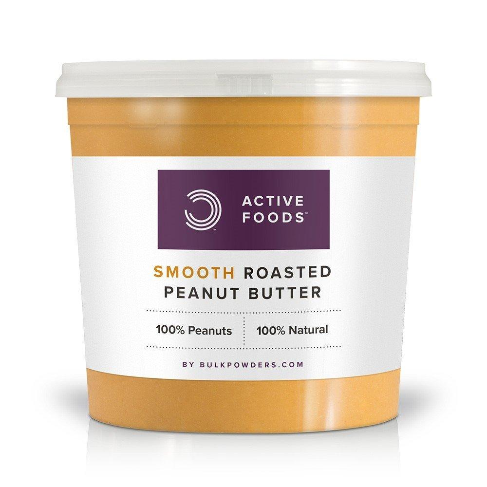 Bulk Powders Active Foods Natural Roasted Peanut Butter Smooth Tub 1kg
