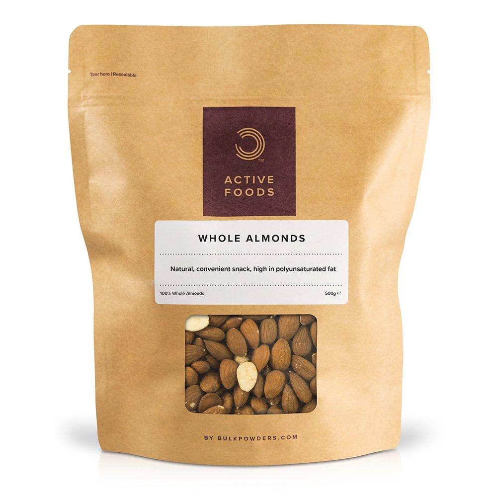 Bulk Powders Whole Almonds Pouch 500g