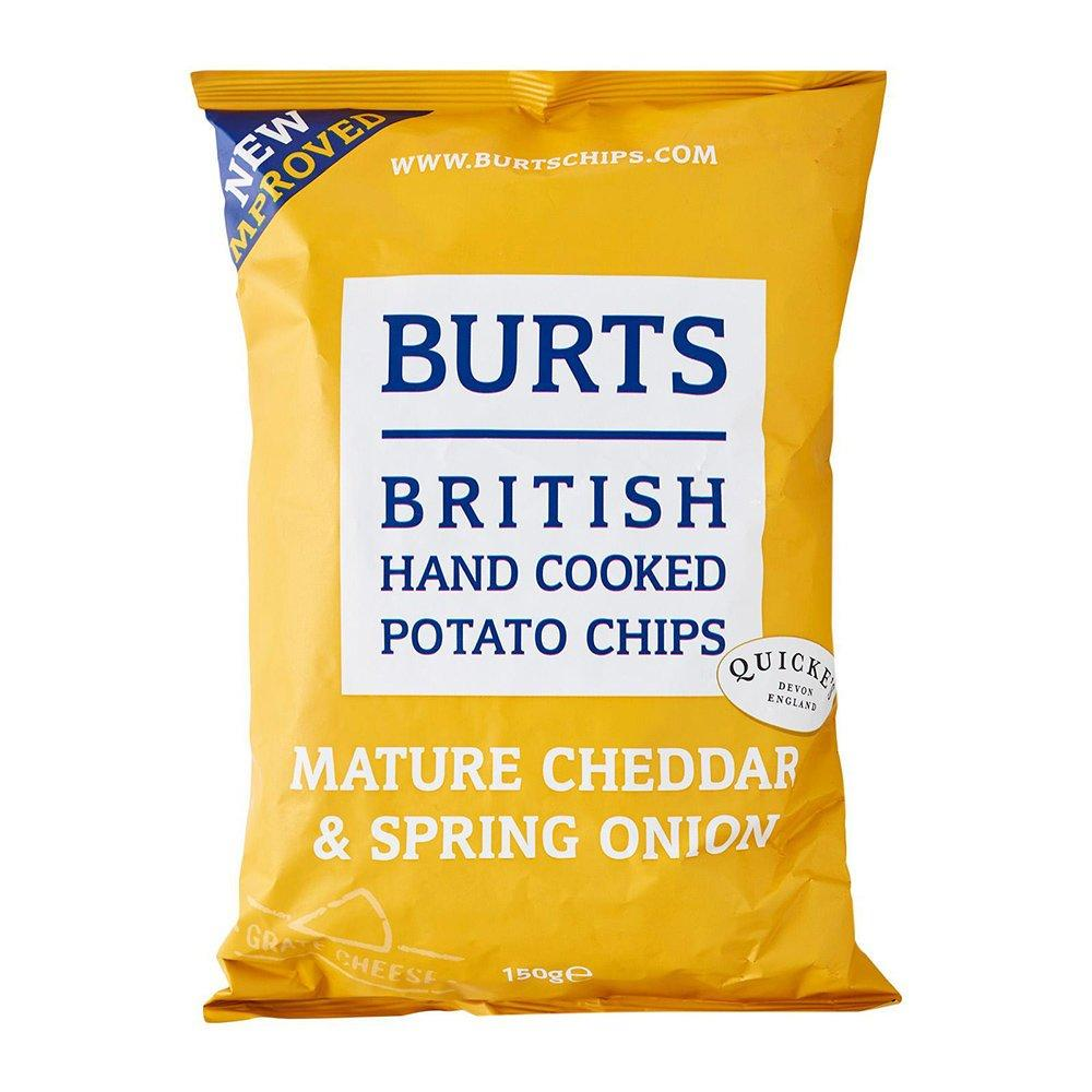 Burts Potato Chips Mature Cheddar and Spring Onion 150g