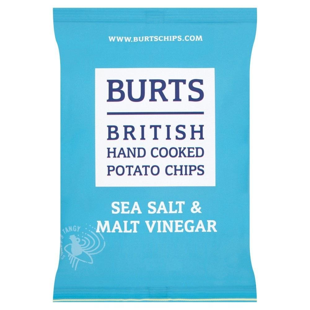 Burts Potato Chips Sea Salt and Malt Vinegar 25g