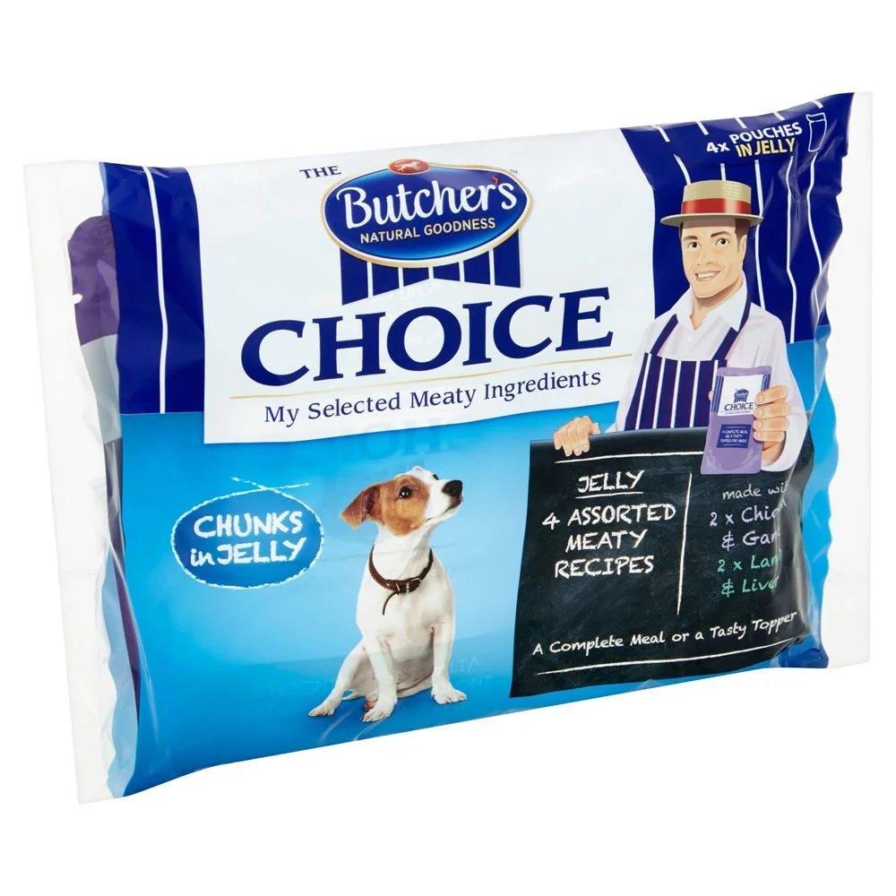 Butchers Choice Chunks in Jelly 100g x 4