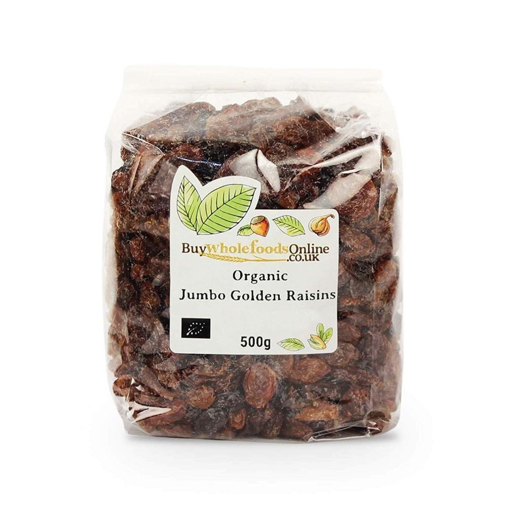 Buy Whole Foods Organic Jumbo Golden Raisins 500 g