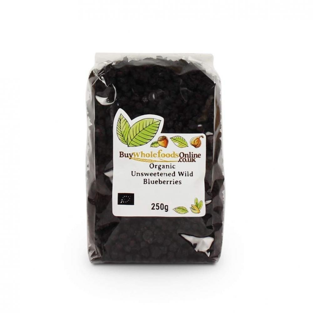 Buy Whole Foods Organic Unsweetened Wild Blueberries 250 g