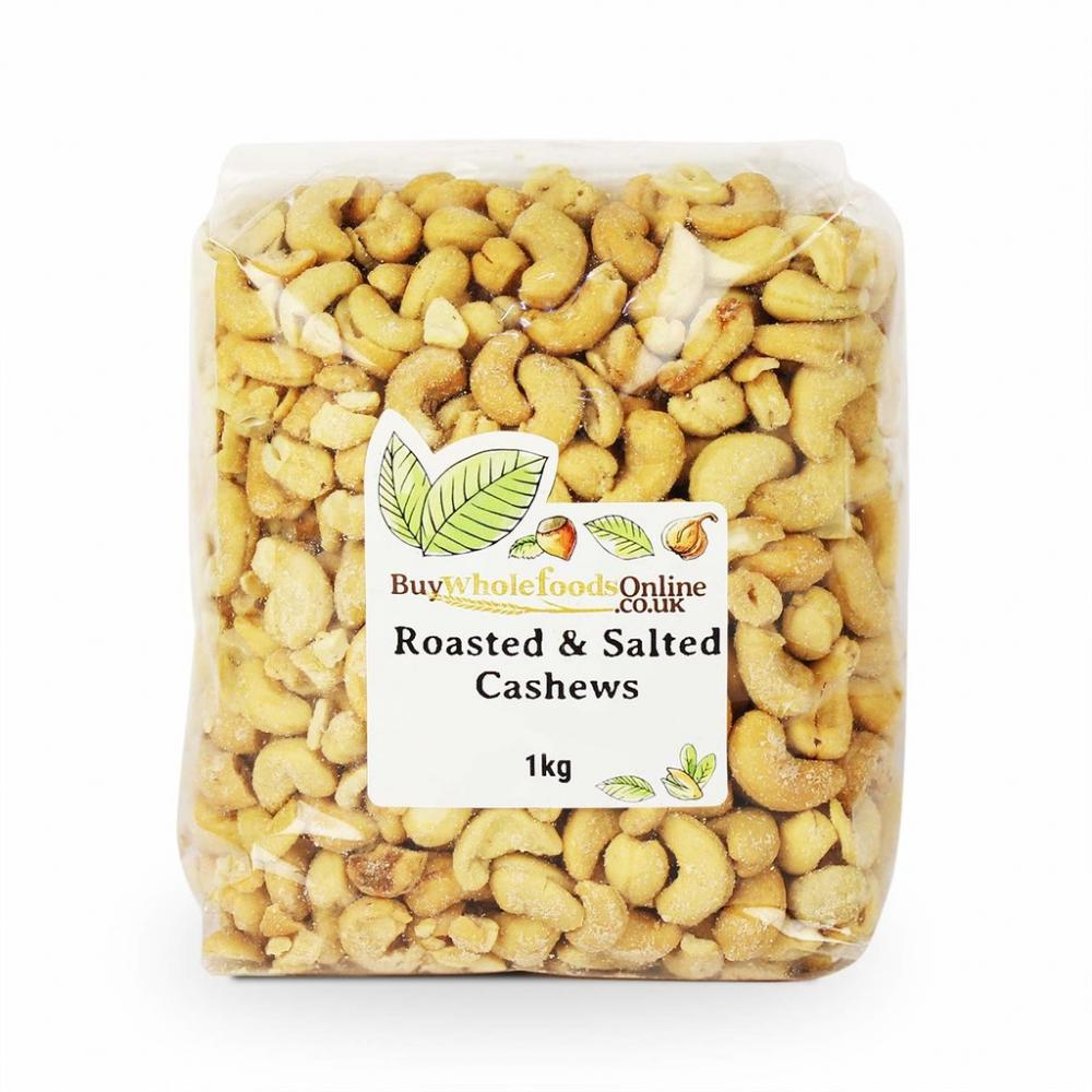 Buy Whole Foods Roasted And Salted Cashews 1kg
