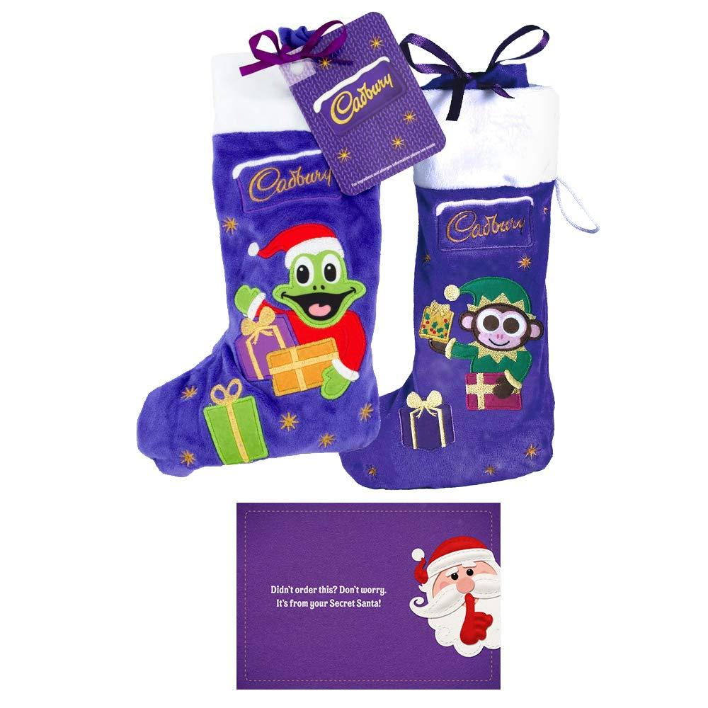 Cadbury Christmas Plush Stocking Pack of Monkey and Freddo 2x192g