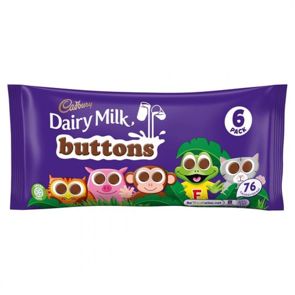 Cadbury Dairy Milk Buttons 6 Pack 84g