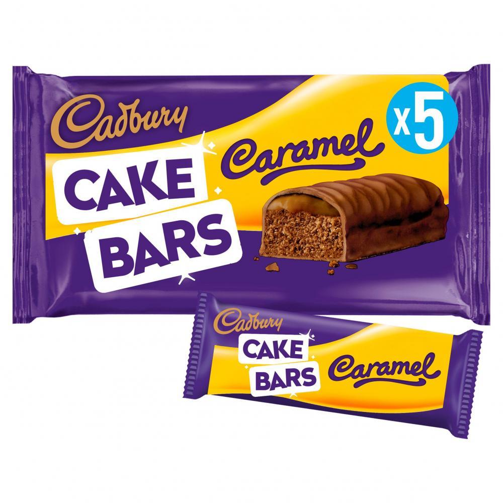 Cadbury Dairy Milk Caramel Cake Bars 5 Pack