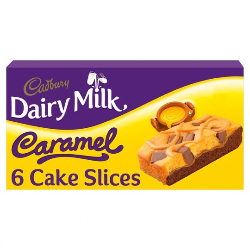 Cadbury Dairy Milk Caramel Cake Slices 6 Pack
