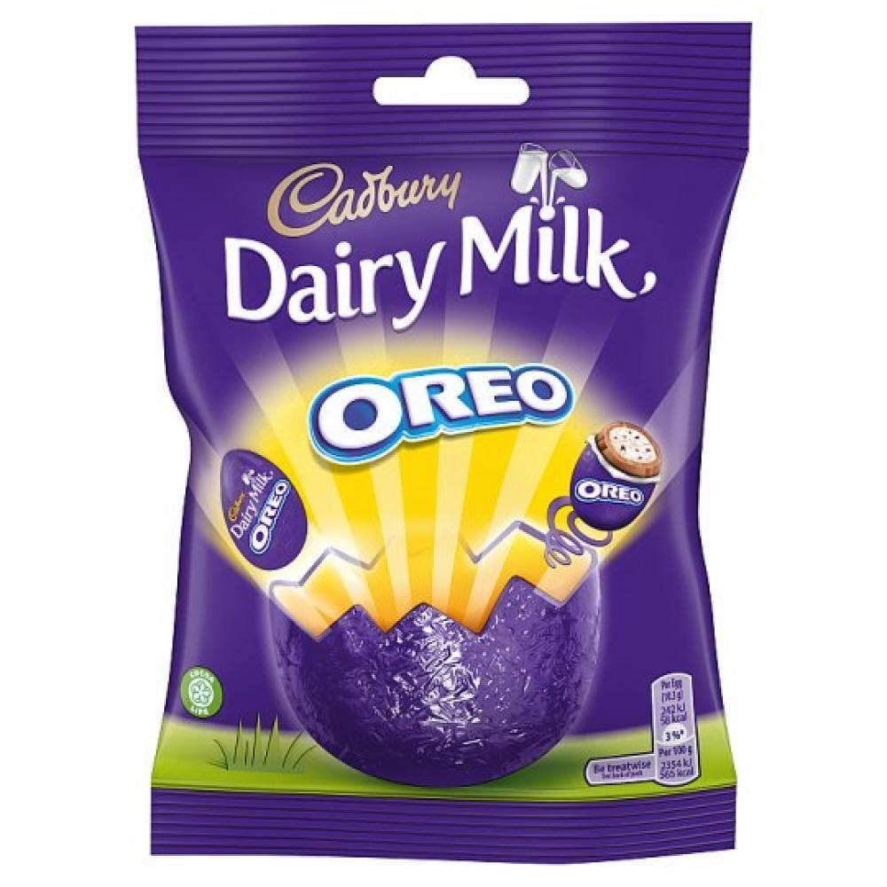 Cadbury Dairy Milk Chocolate with Oreo Mini Eggs 82g