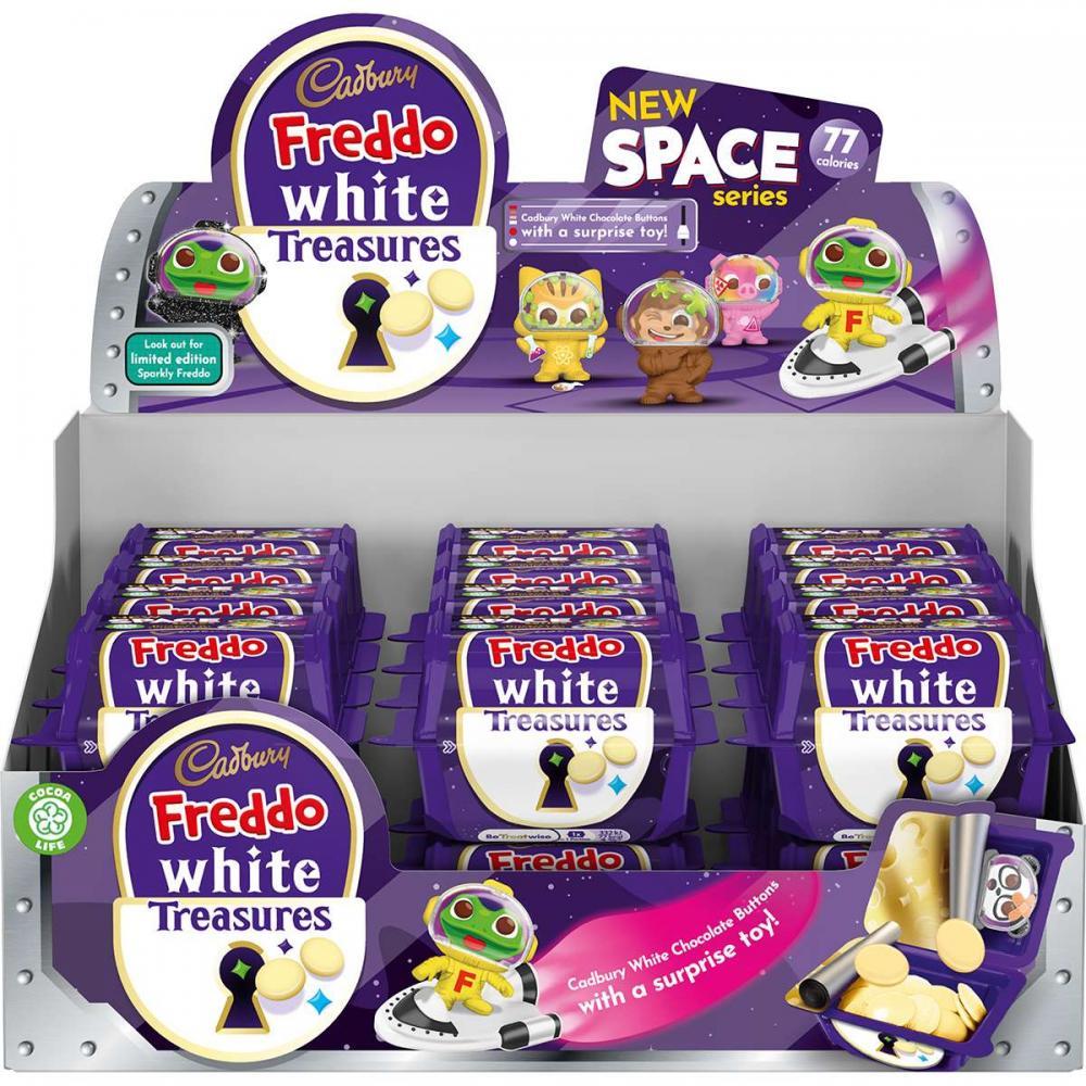 MEGA DEAL CASE PRICE  Cadbury Freddo White Treasures 24 x 14.4g