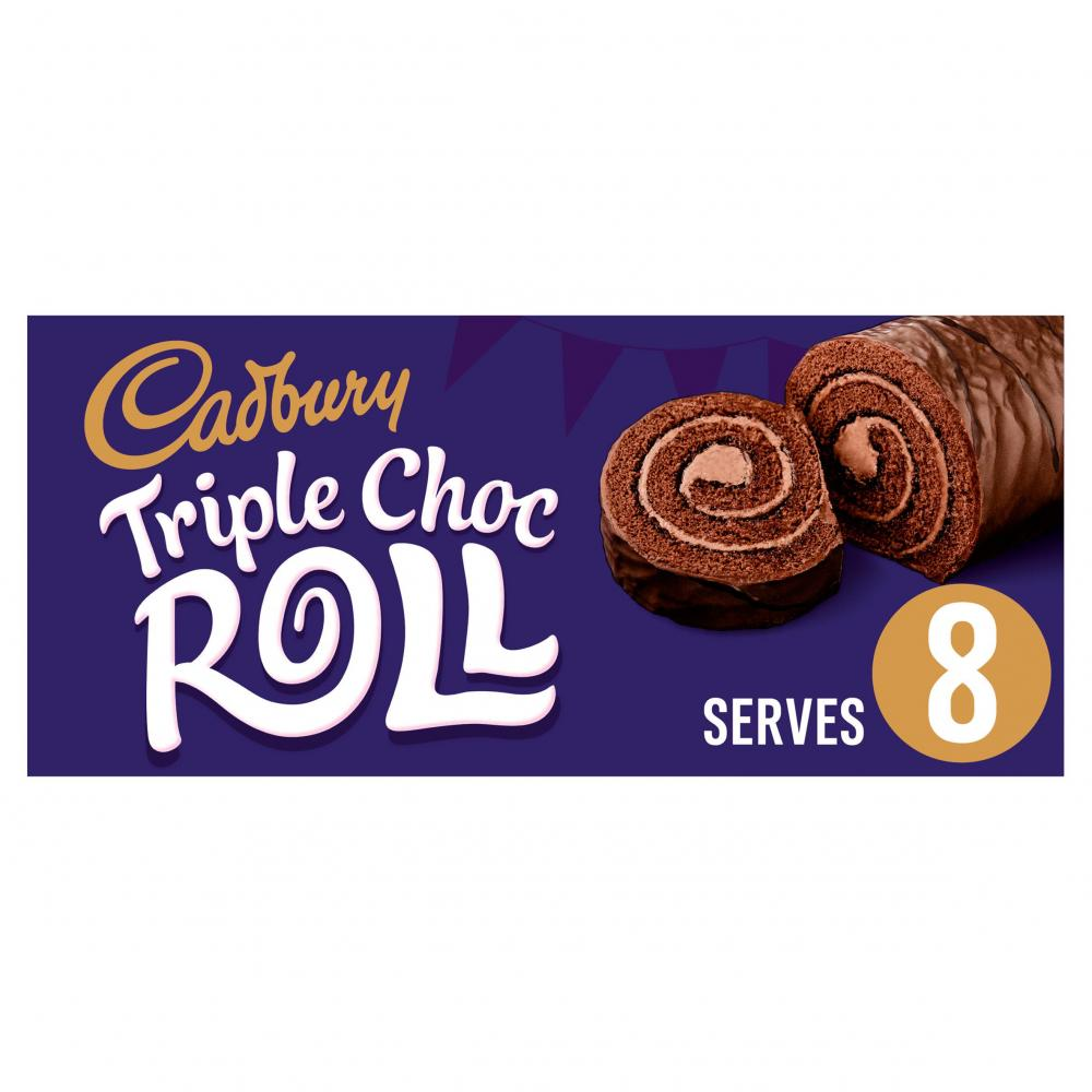 Cadbury Triple Choc Roll 8 Servings 272g
