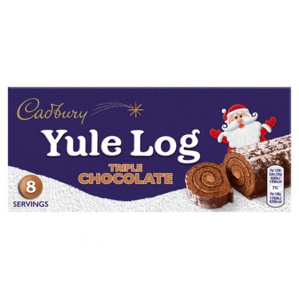 Cadbury Triple Chocolate Yule Log 320g