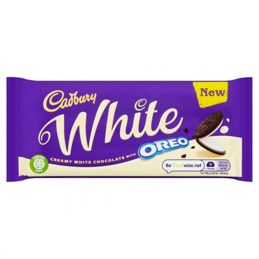 Cadbury White Oreo Bar 120g