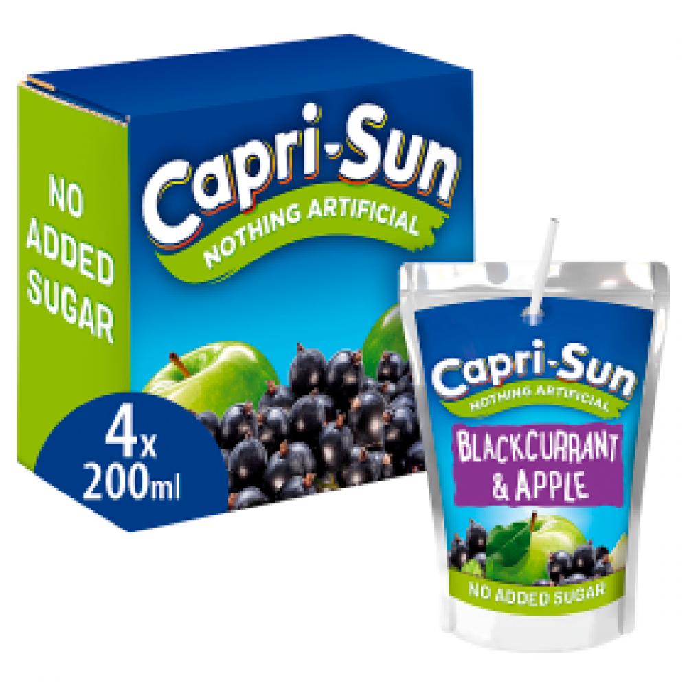 Capri Sun Blackcurrant and Apple 4 x 200ml