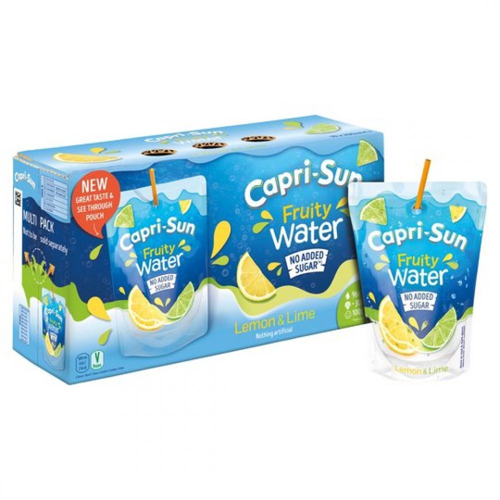 Capri Sun Fruity Water Lemon and Lime 200ml x 10