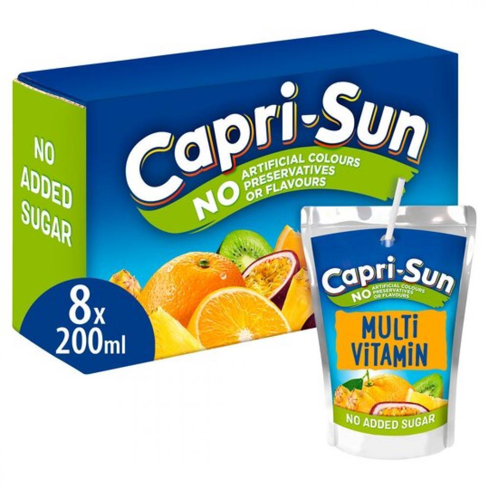 Capri Sun Multivitamin Fruit Juice 8 x 200ml