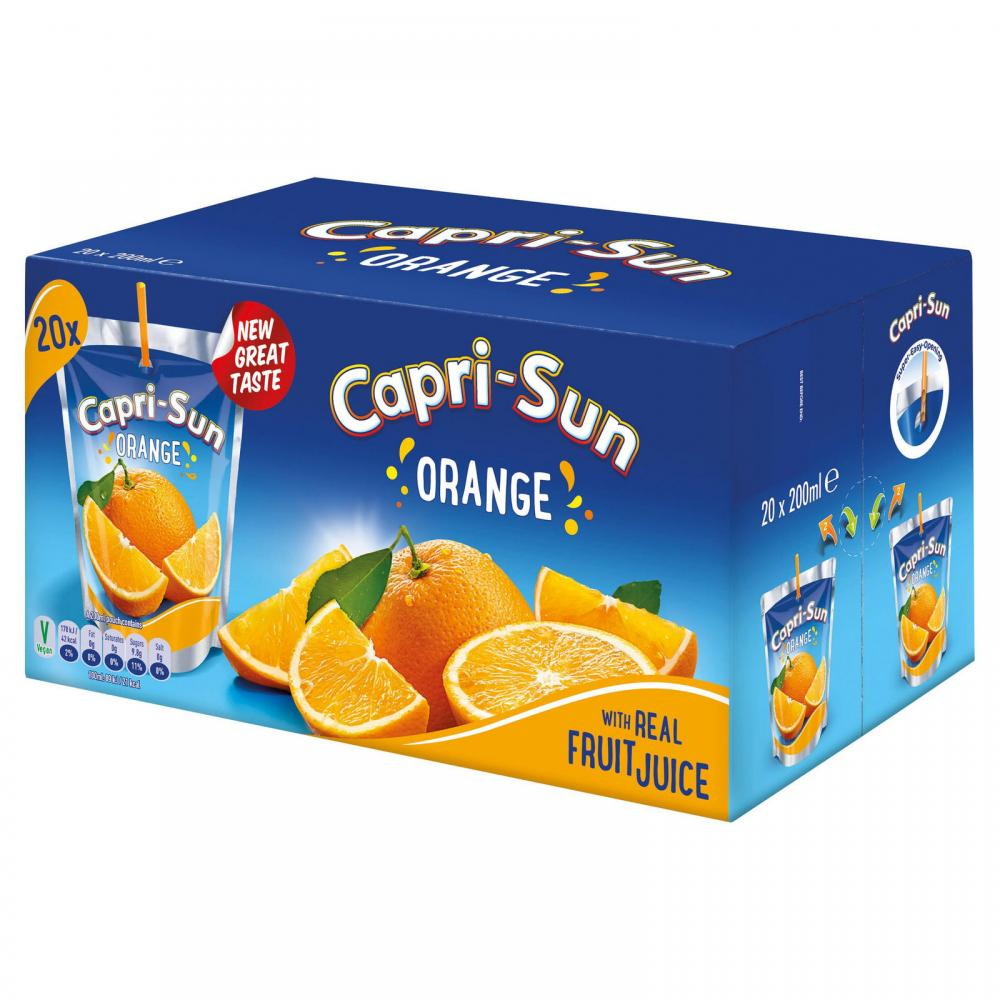 Capri Sun Orange Juice Drink 20 x 200ml