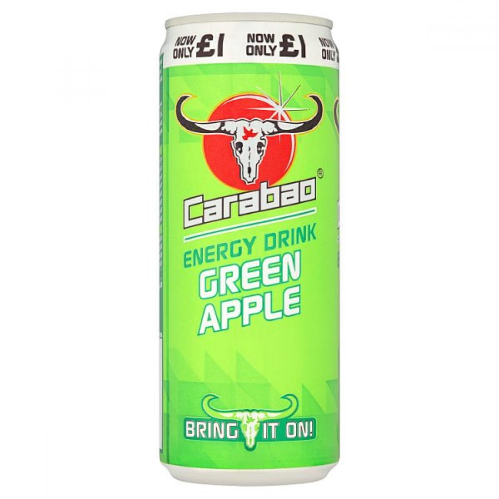 Carabao Energy Drink Green Apple 330ml