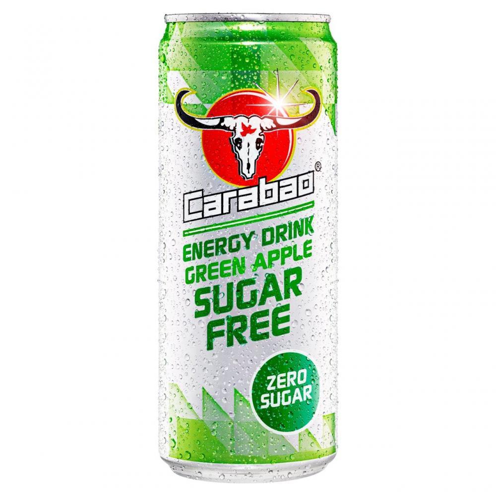 SALE  Carabao Energy Drink Green Apple Sugar Free 330ml