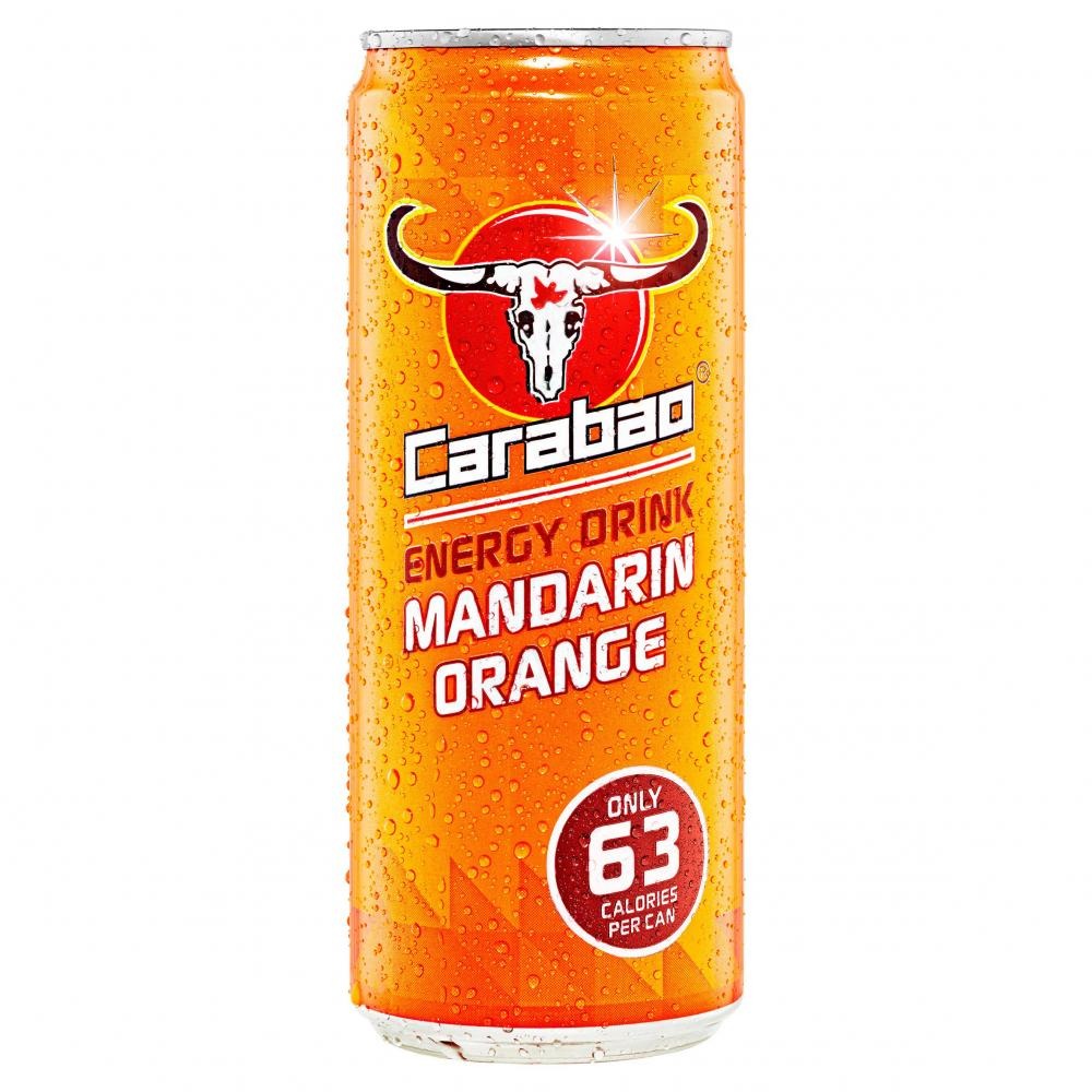 Carabao Energy Drink Mandarin Orange 330ml