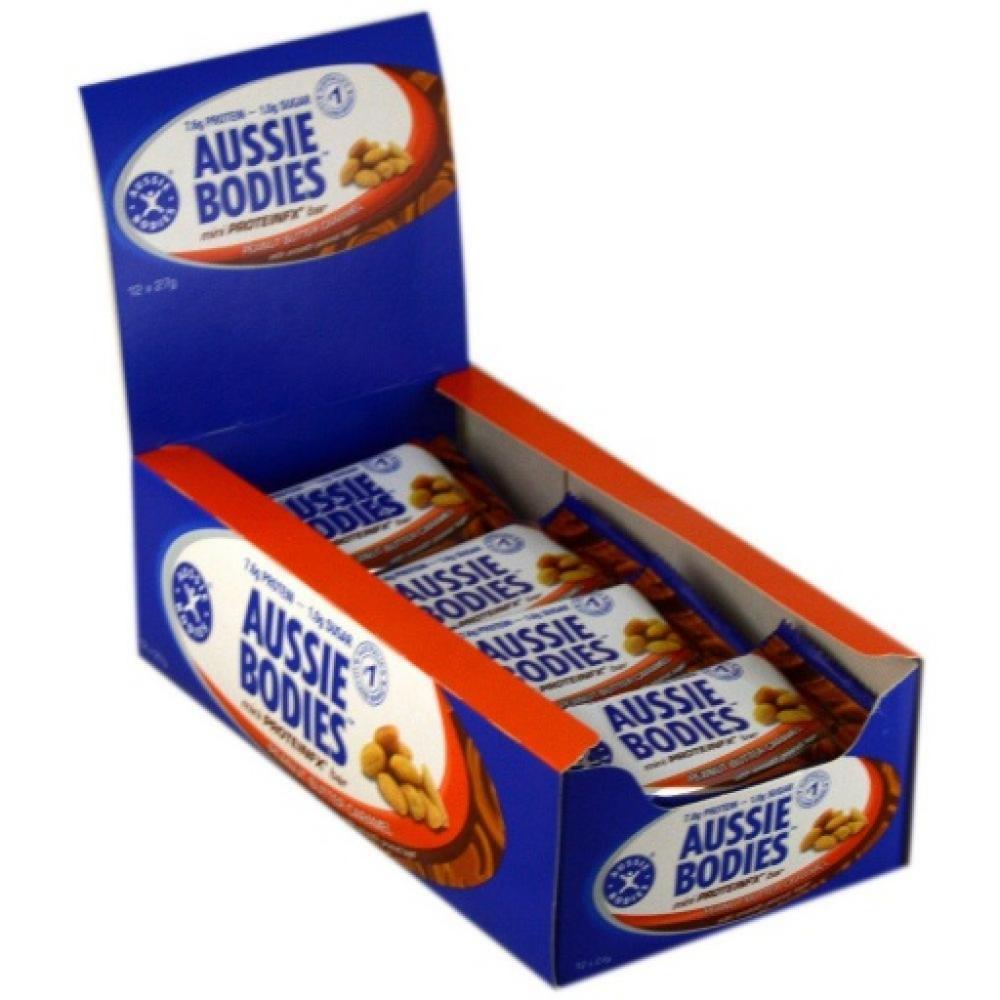 CASE PRICE Aussie Bodies Mini ProteinFX Bar Peanut Butter