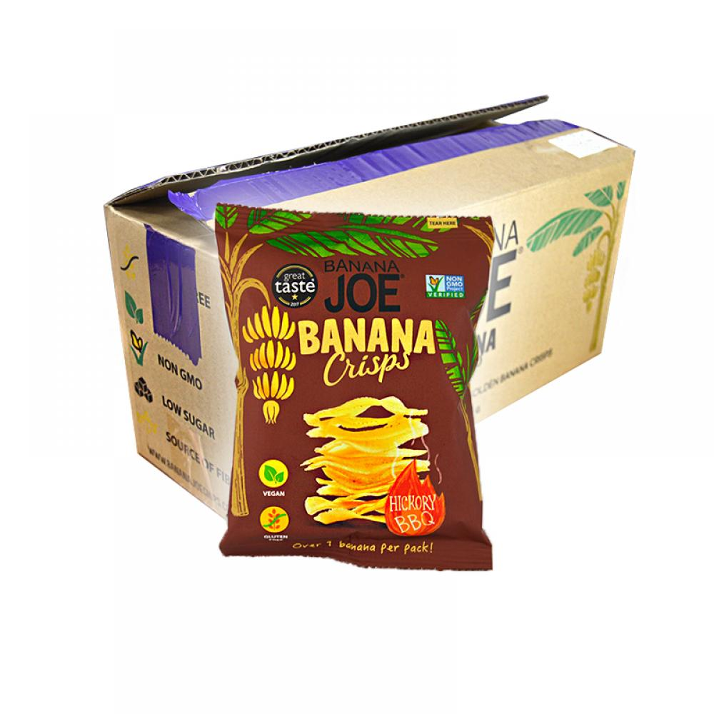 CASE PRICE  Banana Joe Banana Crisps Hickory BBQ 12 x 23g