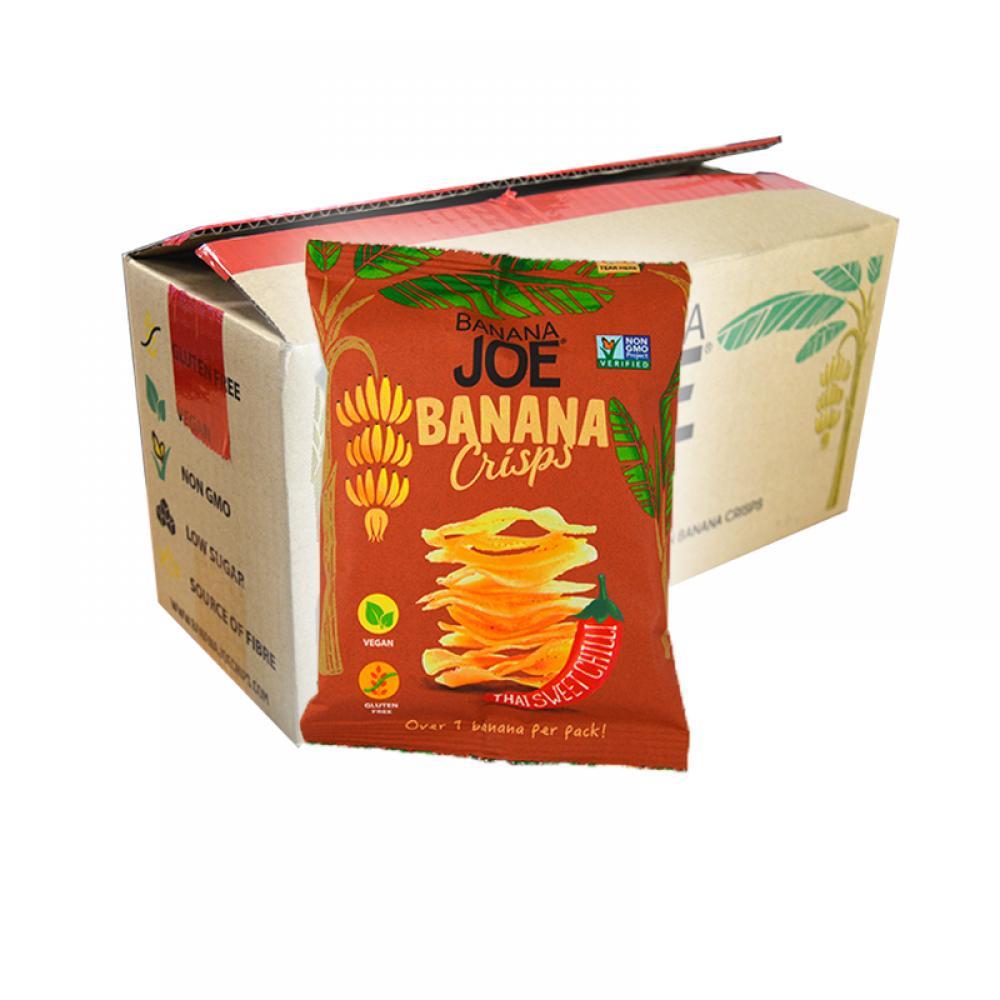 CASE PRICE  Banana Joe Banana Crisps Thai Sweet Chilli 12 x 23g
