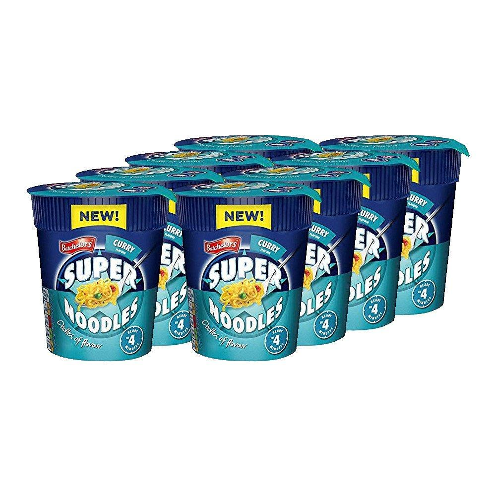 CASE PRICE  Batchelors Super Noodles Curry Flavour 75g x 8
