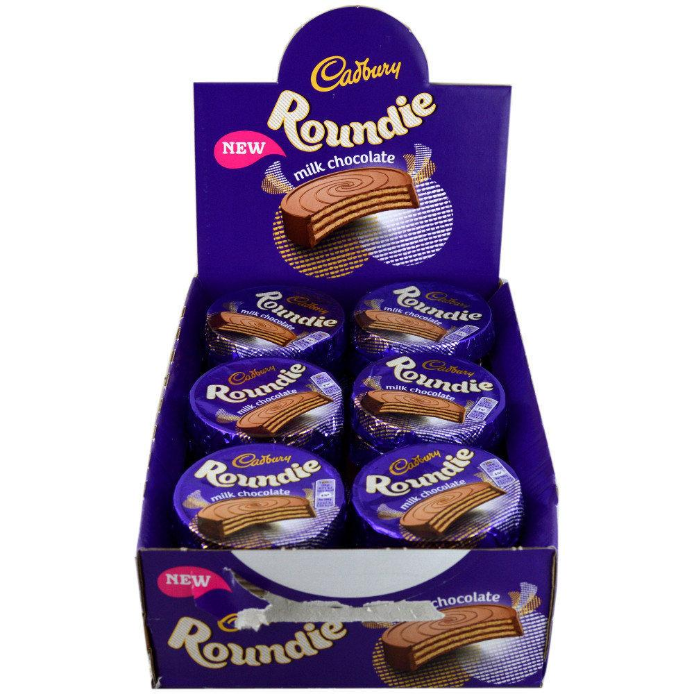 CASE PRICE  Cadbury Roundie Milk Chocolate 30g x 30