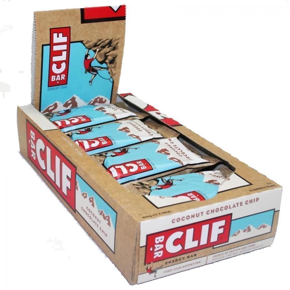 CASE PRICE  Clif Bar Coconut Chocolate Chip Energy Bar 68g x 12