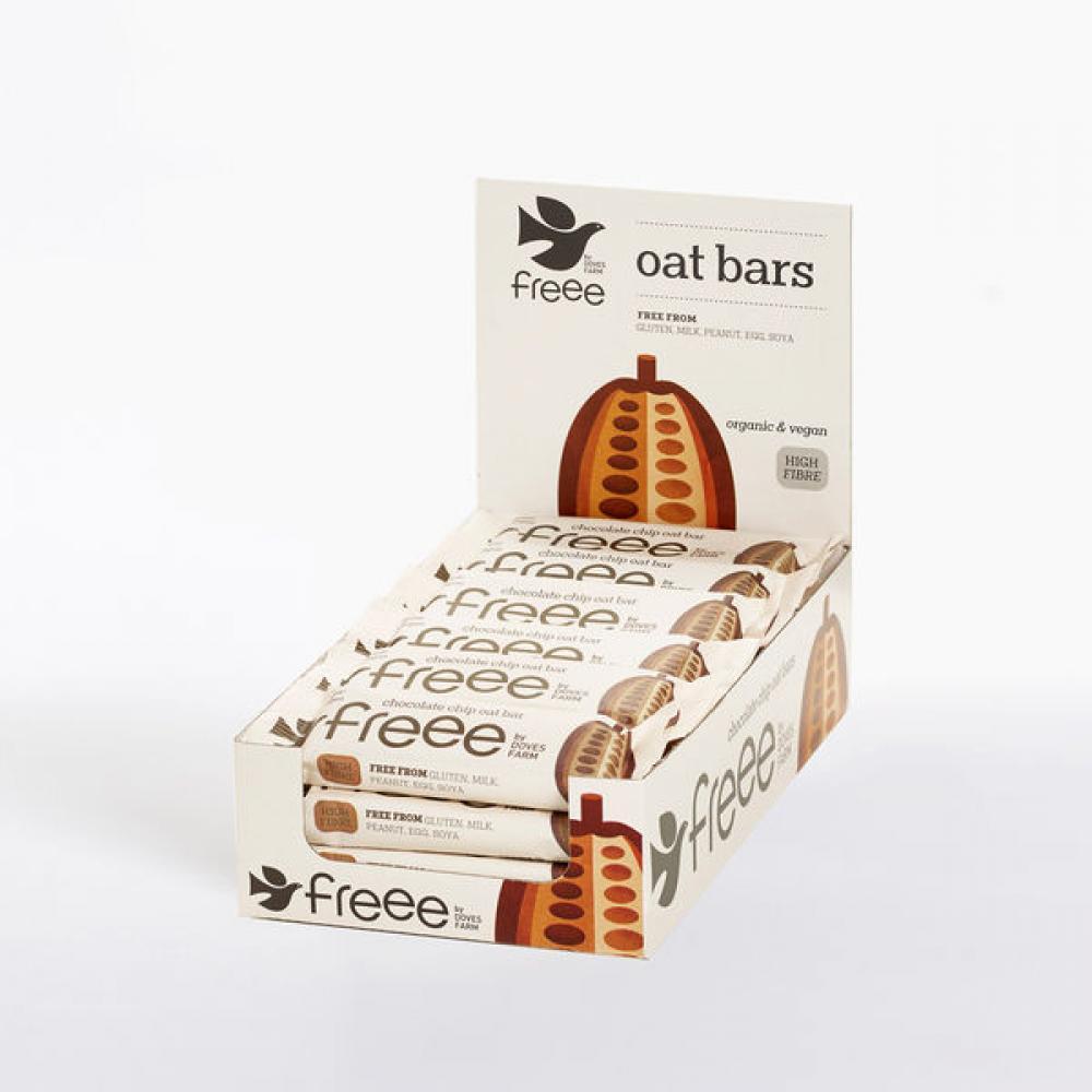 CASE PRICE  Doves Farm Organic Chocolate Chip Oat Bars 18 x 35g