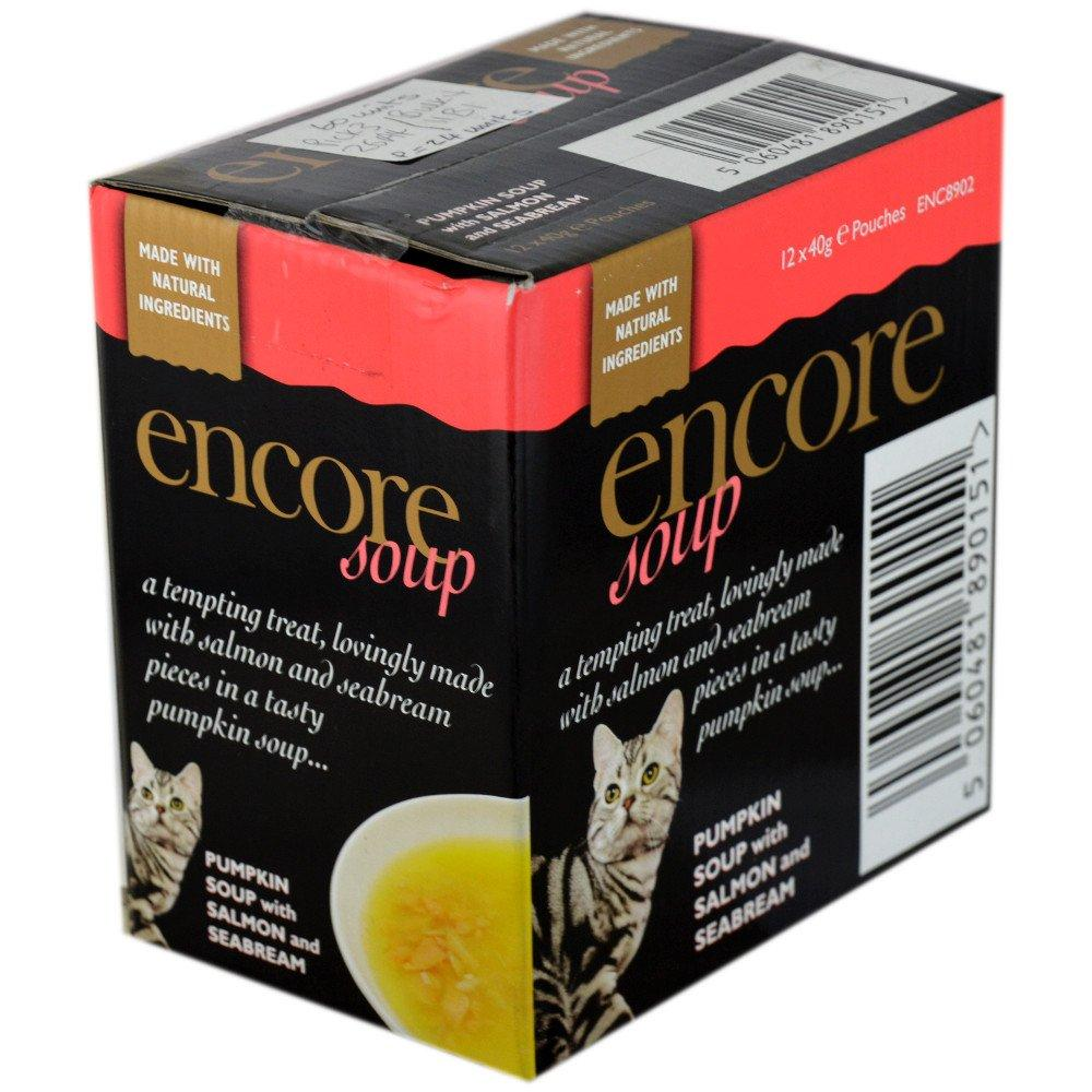 WEEKLY DEAL CASE PRICE  Encore Pumpkin Soup with Salmon and Seabream 40g x 12