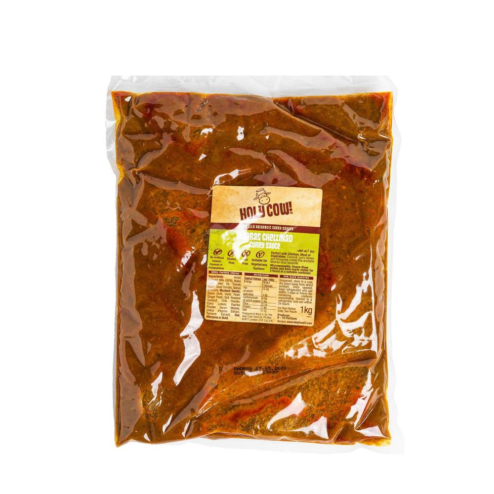 CASE PRICE  Holy Cow Madras Chettinad Curry Sauce 3 x 1kg