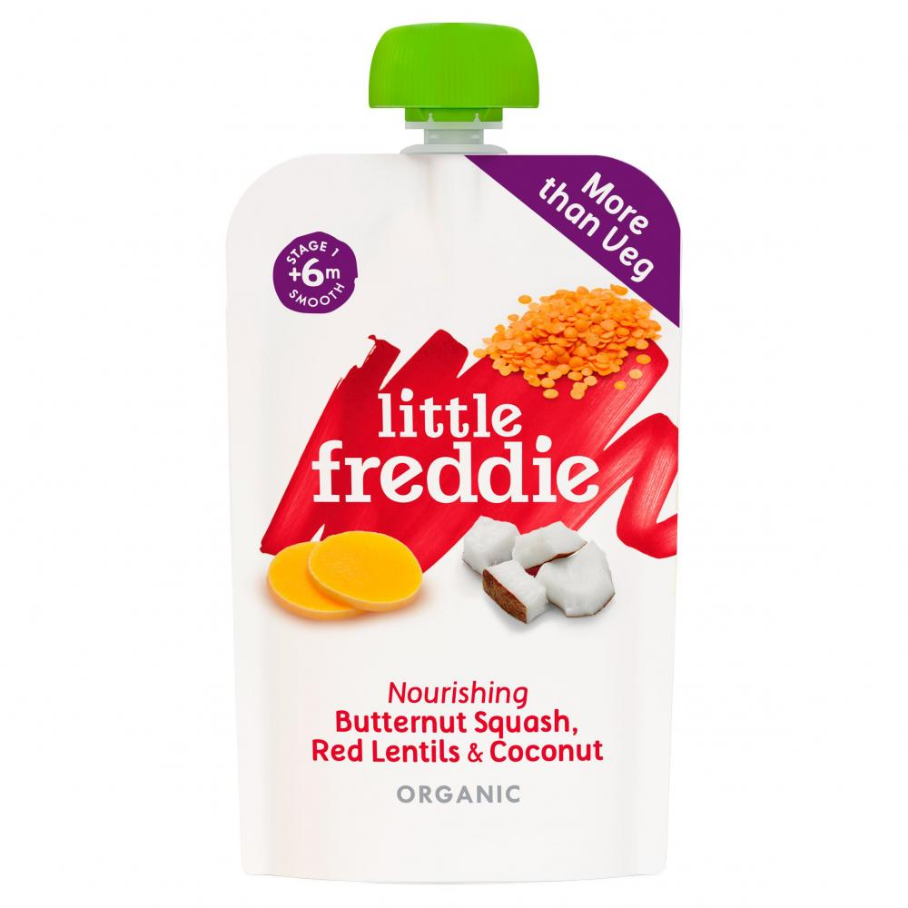 CASE PRICE  Little Freddie Butternut Squash Red Lentils and Coconut 6 x 120g