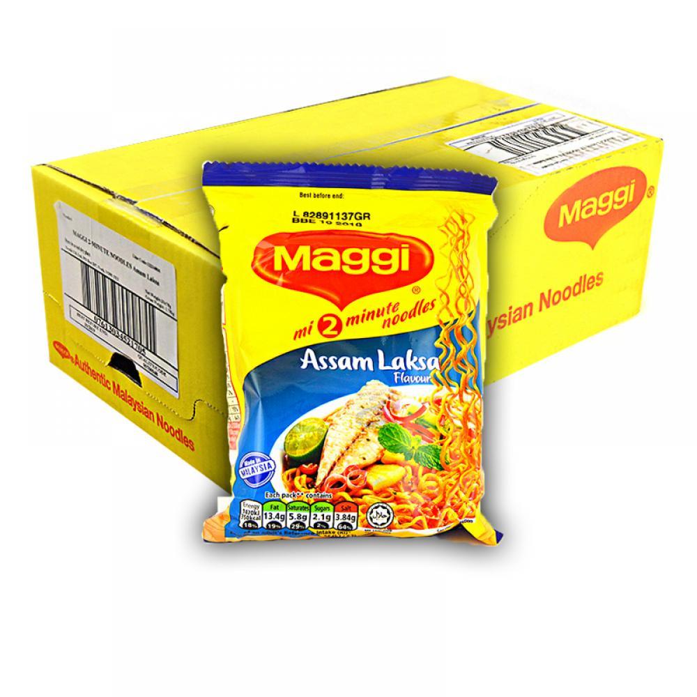 CASE PRICE  Maggi 2 Minute Noodles Assam Laksa 20 x 78g