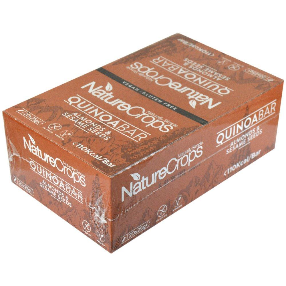 CASE PRICE  Nature Crops Almond and Sesame Quinoabar 25g x 20