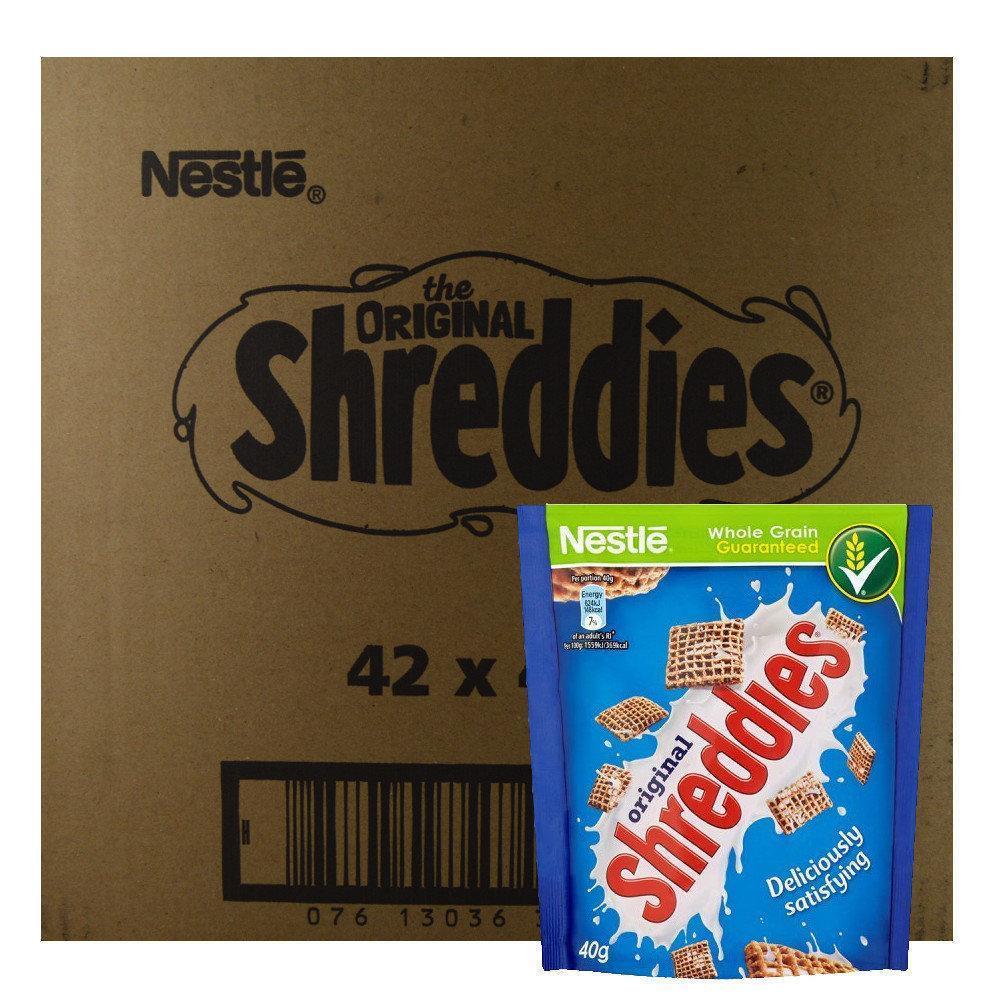 CASE PRICE  Nestle Shreddies Original Pouch 40g x 42