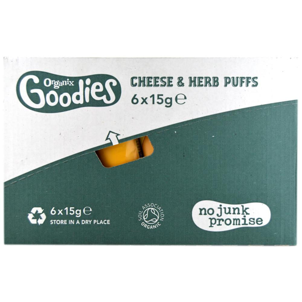 CASE PRICE  Organix Goodies Cheese And Herb Puffs 15g x 6