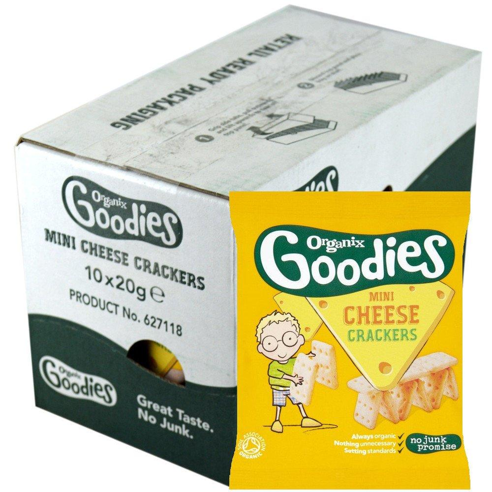 CASE PRICE  Organix Goodies Mini Cheese Crackers 20g x 10