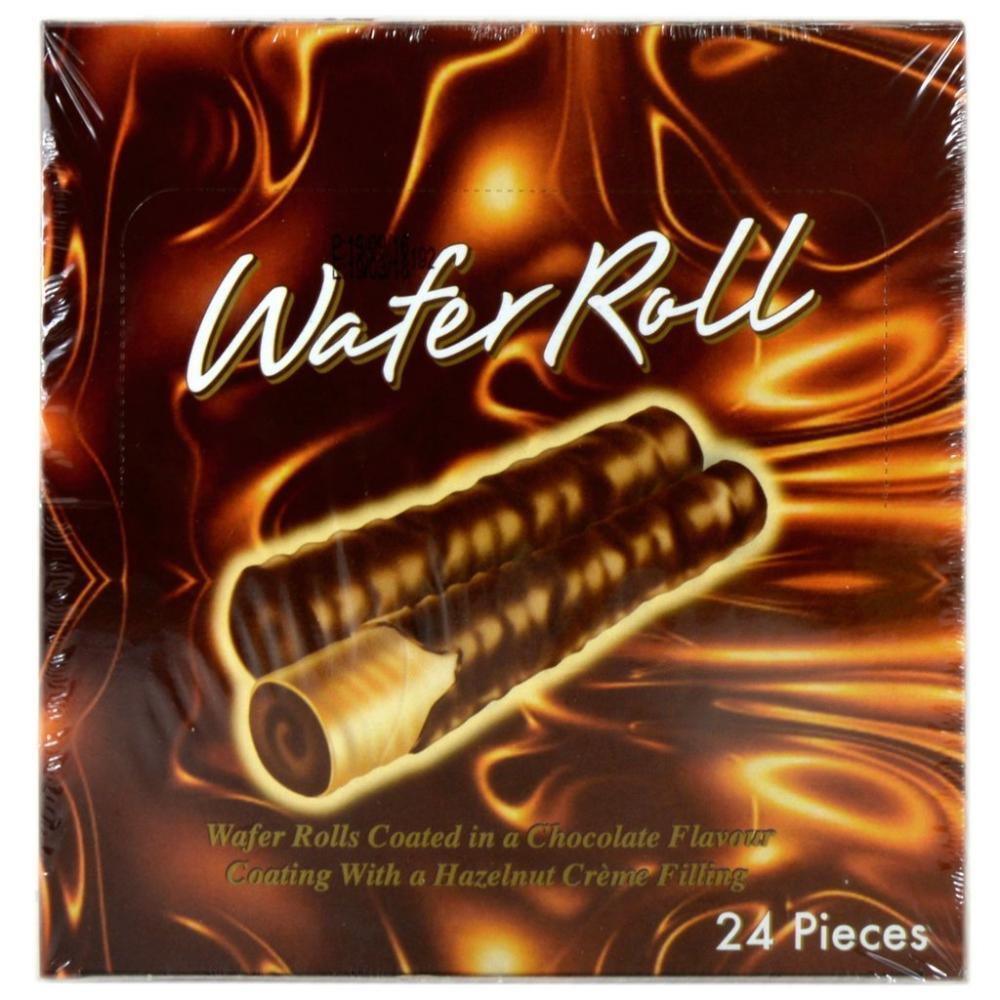 CASE PRICE  Pimlico Chocolate Hazelnut Wafer Rolls 18g x 24