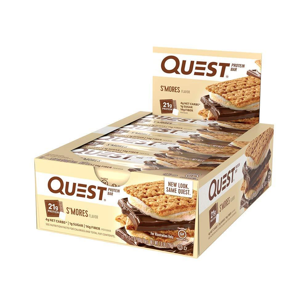 CASE PRICE  Quest Bar Smores Flavour Protein Bar 60g x 12