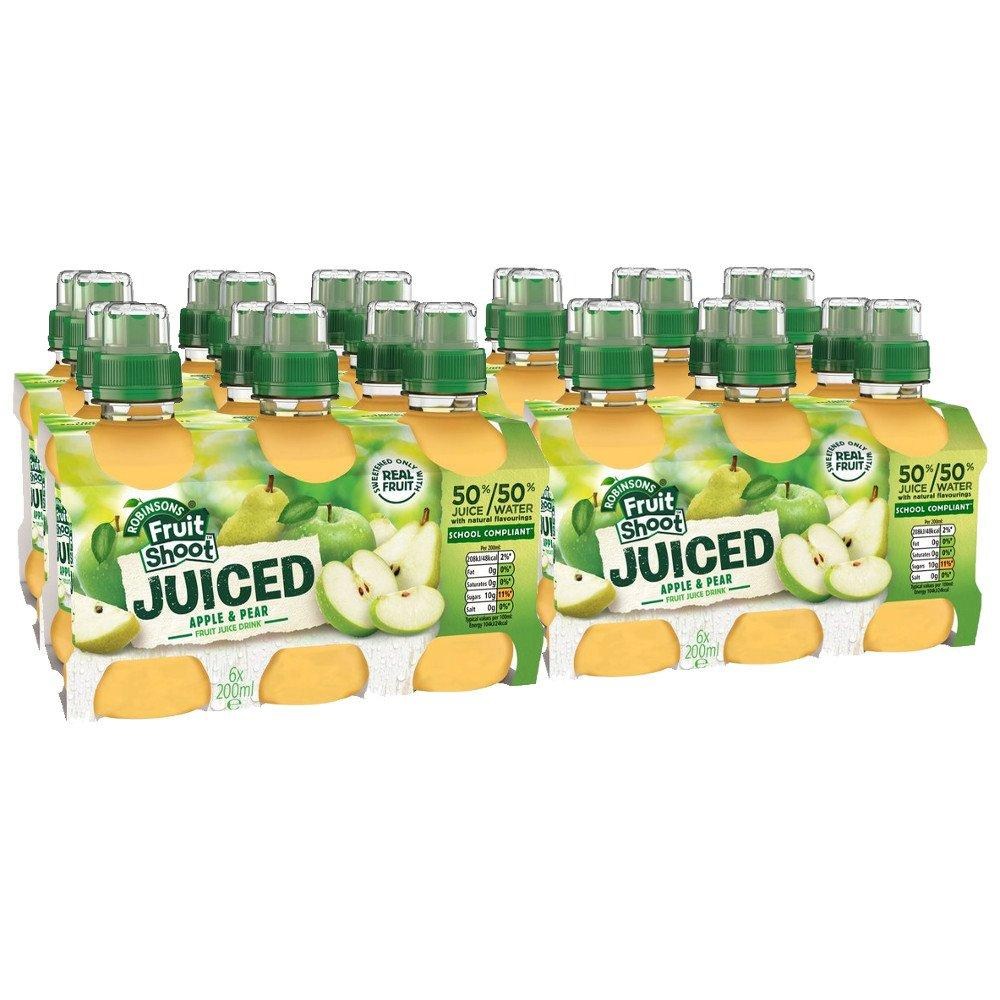 CASE PRICE  Robinsons Fruit Shoot Juiced Apple and Pear 200ml x 24