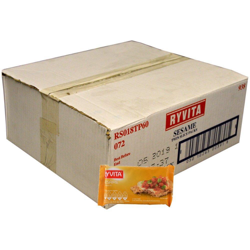 CASE PRICE  Ryvita Sesame Crispbread Twin Pack 18g x 60