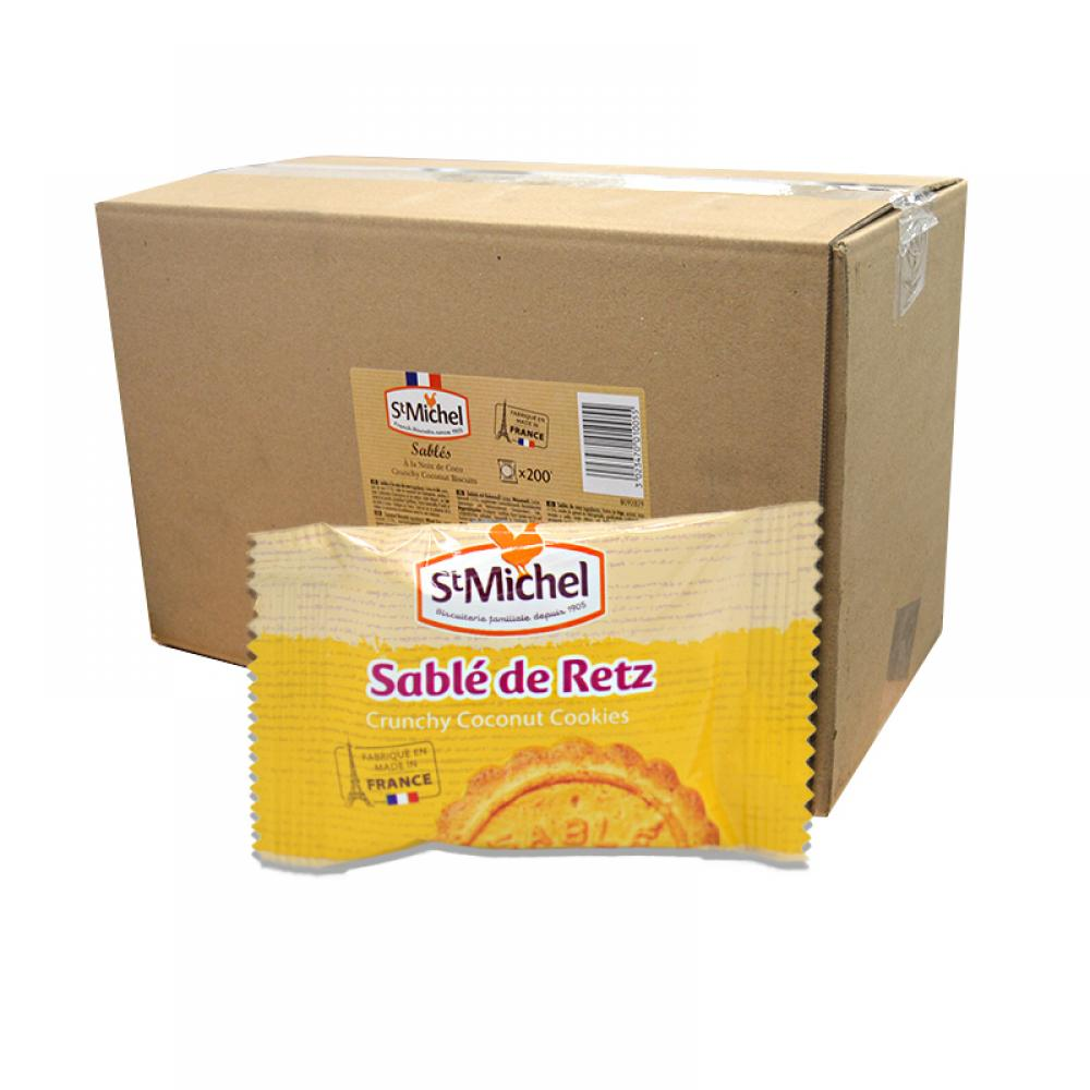 CASE PRICE  St Michel Crunchy Coconut Biscuits 200 x 12g