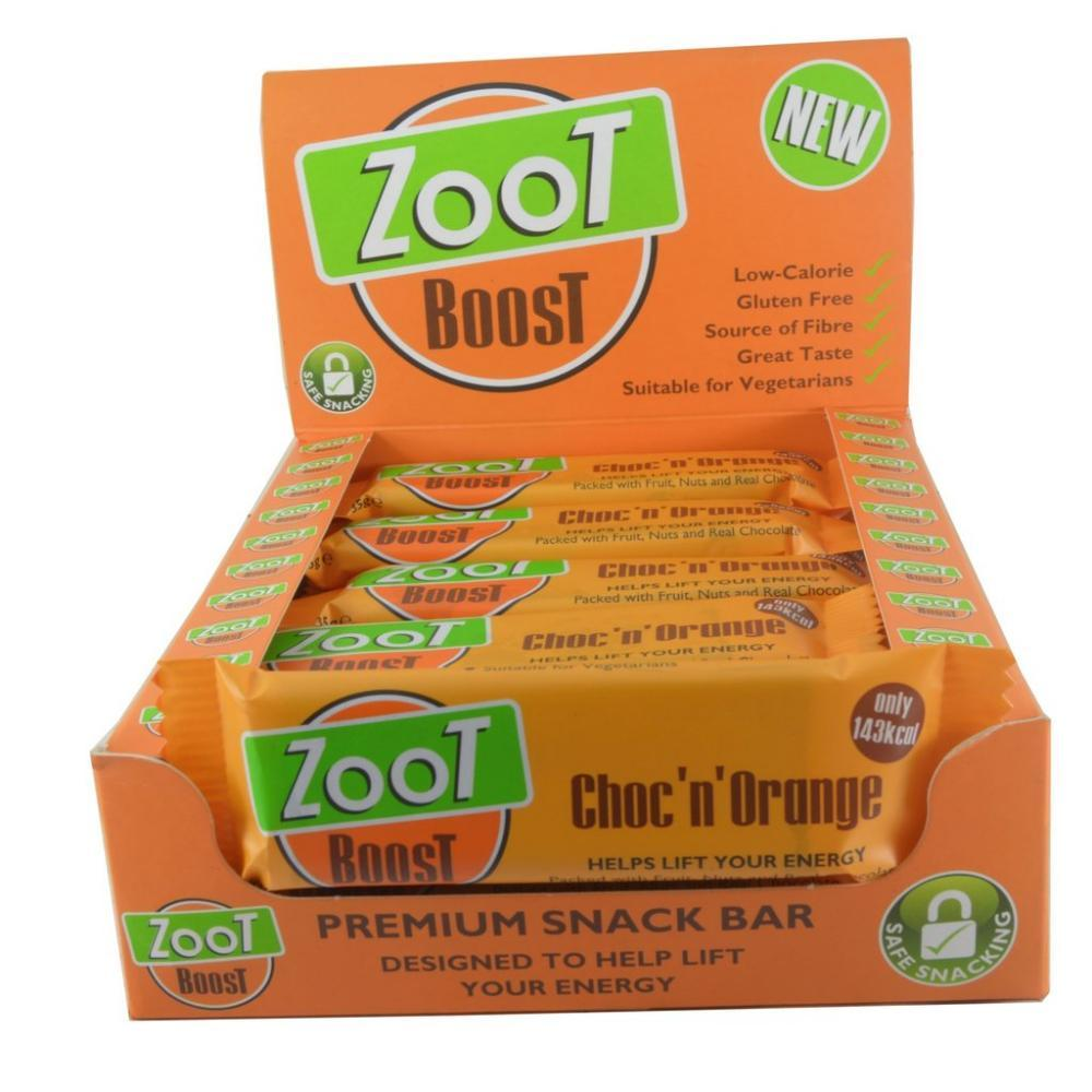 CASE PRICE  Zoot Boost Choc N Orange Snack Bar 35g x 20
