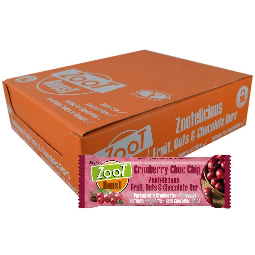CASE PRICE  Zoot Boost Cranberry Choc Chip 35g x 20
